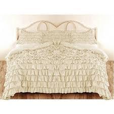 Silentnight Egyptian Cotton Duvet Ruffle Duvet Cover King California King Cream Color Egyptian