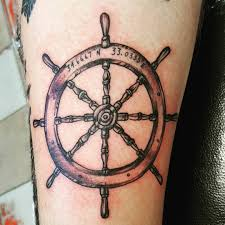ship wheel tattoo venice tattoo art designs