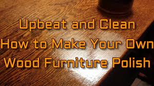 how to make moisturizing wood furniture polish diy video