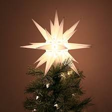 lighted tree topper moravian light tree topper home kitchen