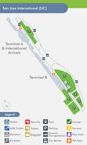 san jose airport on map san jose airport sjc terminal map