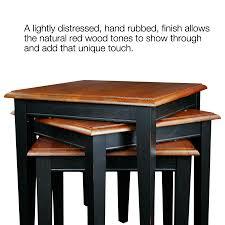 amazon com leick stacking table set black and medium oak