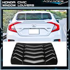 honda civic rear 16 17 honda civic sedan rear window louvers sun shade back cover