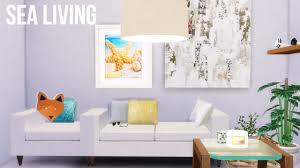 the sims 4 white sea livingroom room decor youtube
