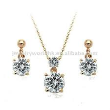 simple diamond set authentic austrian clear 18k gold plated simple graceful