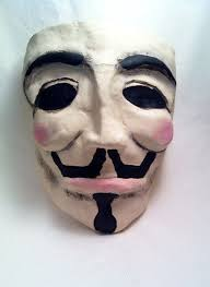 v for vendetta mask v for vendetta mask a mask molding and decorating on cut