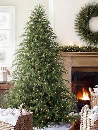 pre lit noble fir artificial christmas tree grandin road