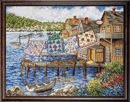 design works dockside quilts counted cross stitch kit 2780