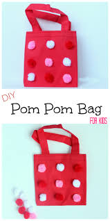 pom pom bag craft for kids make and takes