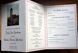 Wedding Programs Trifold Lion In The Sun
