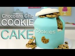 omg it s a cookie jar cake chocolate chip cake cookie filling