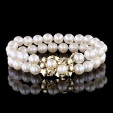 pearl bracelet with yellow gold images Estate pearl jewelry long 39 s jewelers jpg