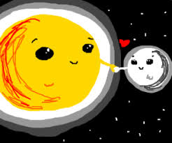 sun and the moon together forever