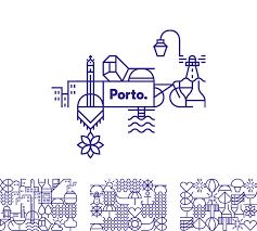pattern brand logo brand new new logo and identity for porto by white studio