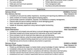 Delivery Driver Resume Example by Truck Driver Resume For Skills Reentrycorps