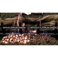 platinum bright embers gas log guys