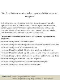 Top   customer service sales representative resume samples In this file  you can ref resume