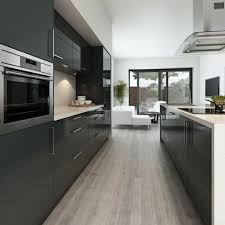 grey modern kitchen design modern dark grey kitchen with high
