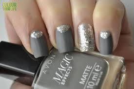 colour your life january u0027s nails challenge ice or silver nails