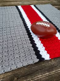 Ohio State Home Decor Ohio State Crochet Blanket Ohio State Afghan Ohio State
