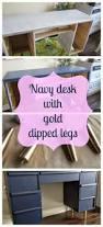My Gold Desk Navy And Gold Desk Makeover