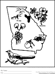 georgia coloring pages coloring pages pinterest georgia