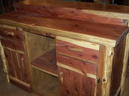 rustic wood cedar furniture tables chairs home decor hand