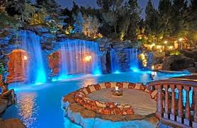 Backyard Swimming Pool Landscaping Ideas Attractive Pool Ideas For Backyards Pond Waterfall Design Simple