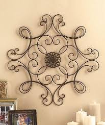 metal home decorating accents metal wall art medallion wrought iron home decor accent scroll