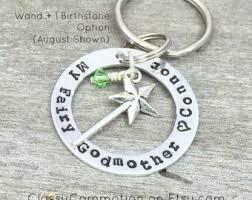 godmother keychain fairy godmother etsy