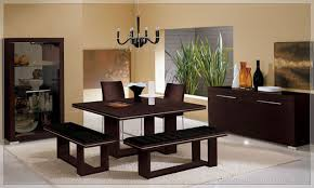Modern Dining Room Table With Bench Contemporary Dining Table With Bench With Inspiration Picture