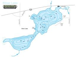 Topographic Map Of Michigan by Silver Lake U2013 Manitowoc County Lakes Association