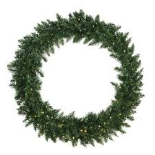 48 pre lit buffalo fir artificial wreath warm white