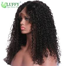 8a mongolian curly front human wigs glueless afro
