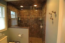 Master Bathroom Floor Plans With Walk In Shower by Master Bathroom Showers Without Doors Bathrooms Doorless Shower