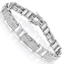 men white gold bracelet images Diamond bracelets gold mens diamond bracelet 2 41ct jpg