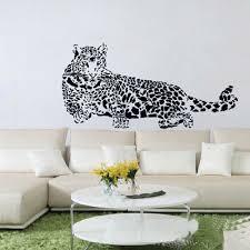 giraffe height chart bear birds playing together easy to peel puma wall sticker leopard sticker