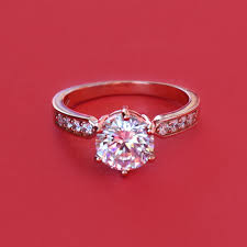promise ring anillo de compromiso attractive gold zirconia engagement ring