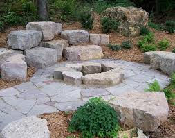 Landscape Fire Pits by Outdoor Firepit With Boulders Boulder Images Believes Outdoor