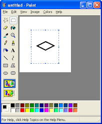 mspaint tutorial rotate by 45 degrees