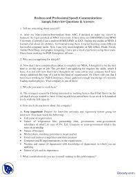 Best Resume Questions by Interview Questions Effective Business Communication Lecture