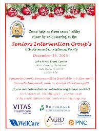 6th annual senior christmas party u2013 seniors intervention group