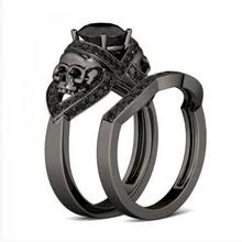 skull wedding ring sets popular skull engagement rings buy cheap skull engagement rings