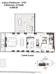Two Story Condo Floor Plans by Bi Level Penthouse At One Riverside With 4 Terraces Wants 7m