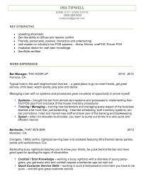 Some Experience Resume Bartending Resume Sample Server And Bartender Resumes Job