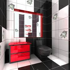 Black Bathrooms Ideas by Simple 70 Black White Red Bathroom Accessories Inspiration Of