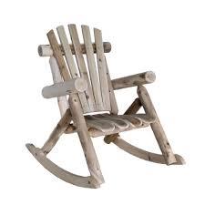 Modern Wooden Rocking Chair Modern Wood Rocking Chair Lakeland Mills Cedar Log Natural