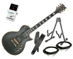 esp ltd ec 1000 deluxe series electric guitar vintage black