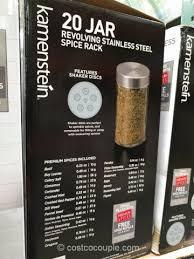 Revolving Spice Rack 20 Jars Kamenstein 20 Jar Spice Rack