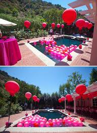 Pool Party Decoration Ideas For The Pool Party Balloons Floating In It Would Look Cool And If